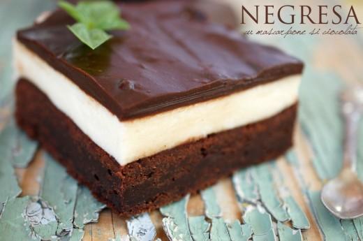 Negresa cu mascarpone si ciocolata