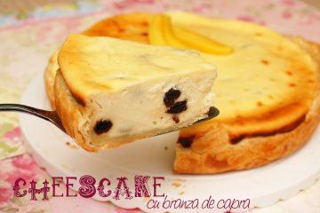 Cheesecake cu branza de capra