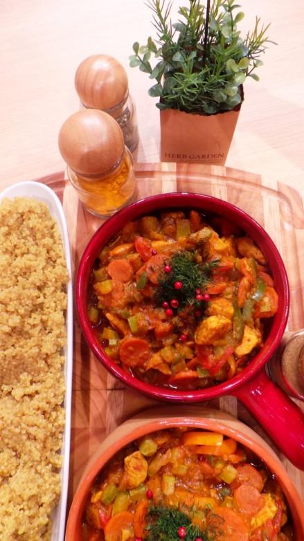 curry de pui cu legume
