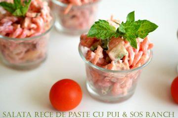 Salata rece de paste cu pui si sos Ranch