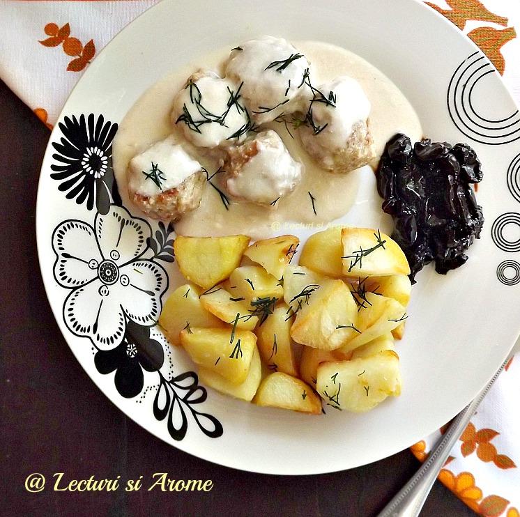 Lecturi si Arome - Chiftelute suedeze cu sos alb (Kottbullar)