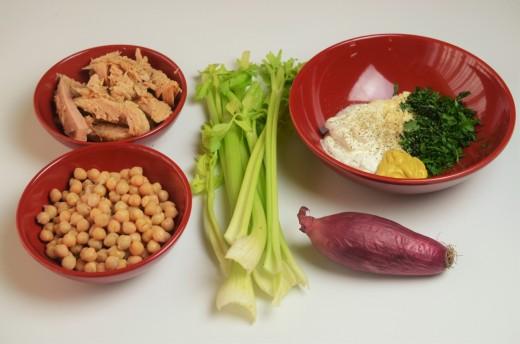 salata de naut cu ton