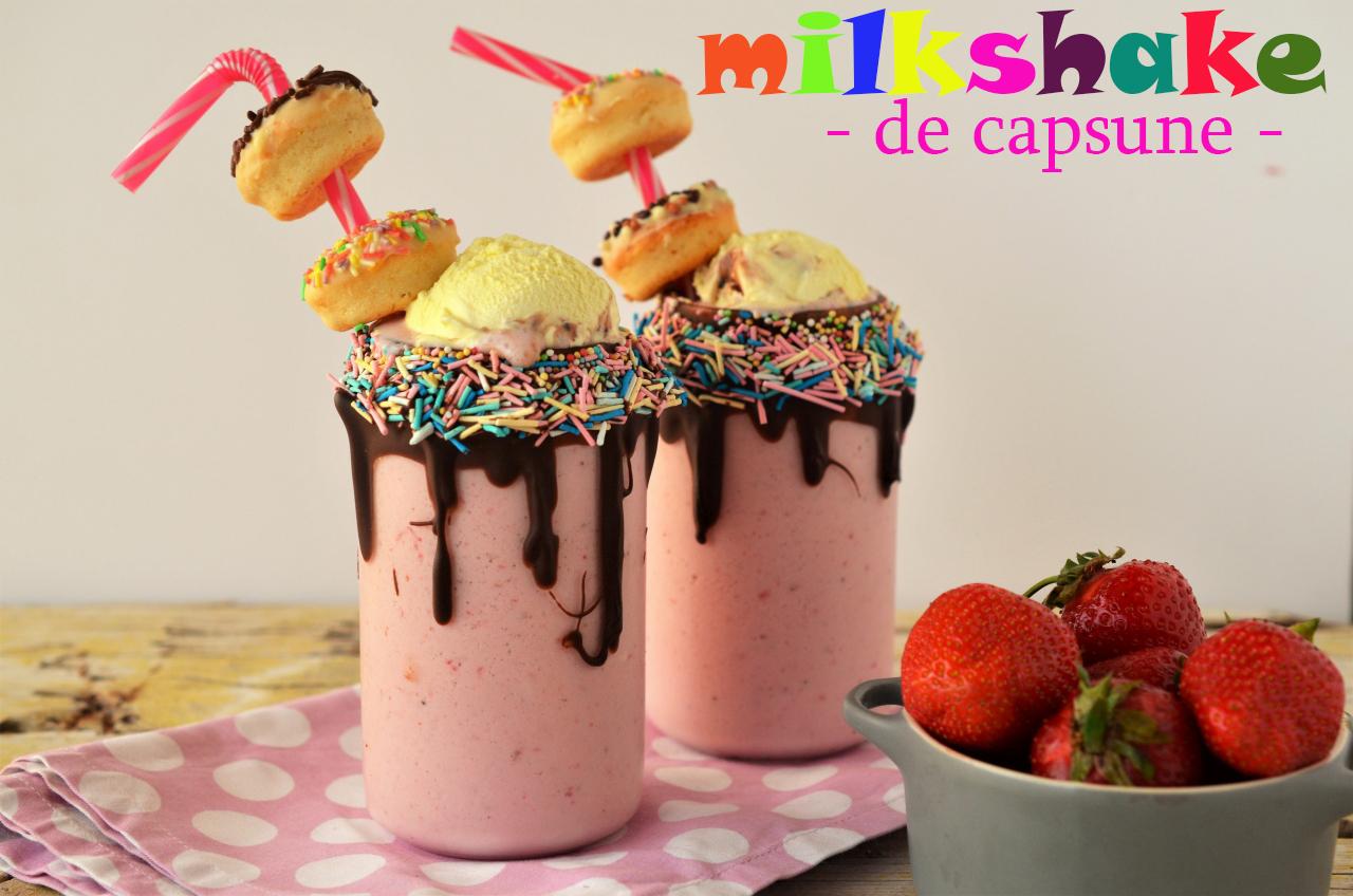 milkshake cu capsune