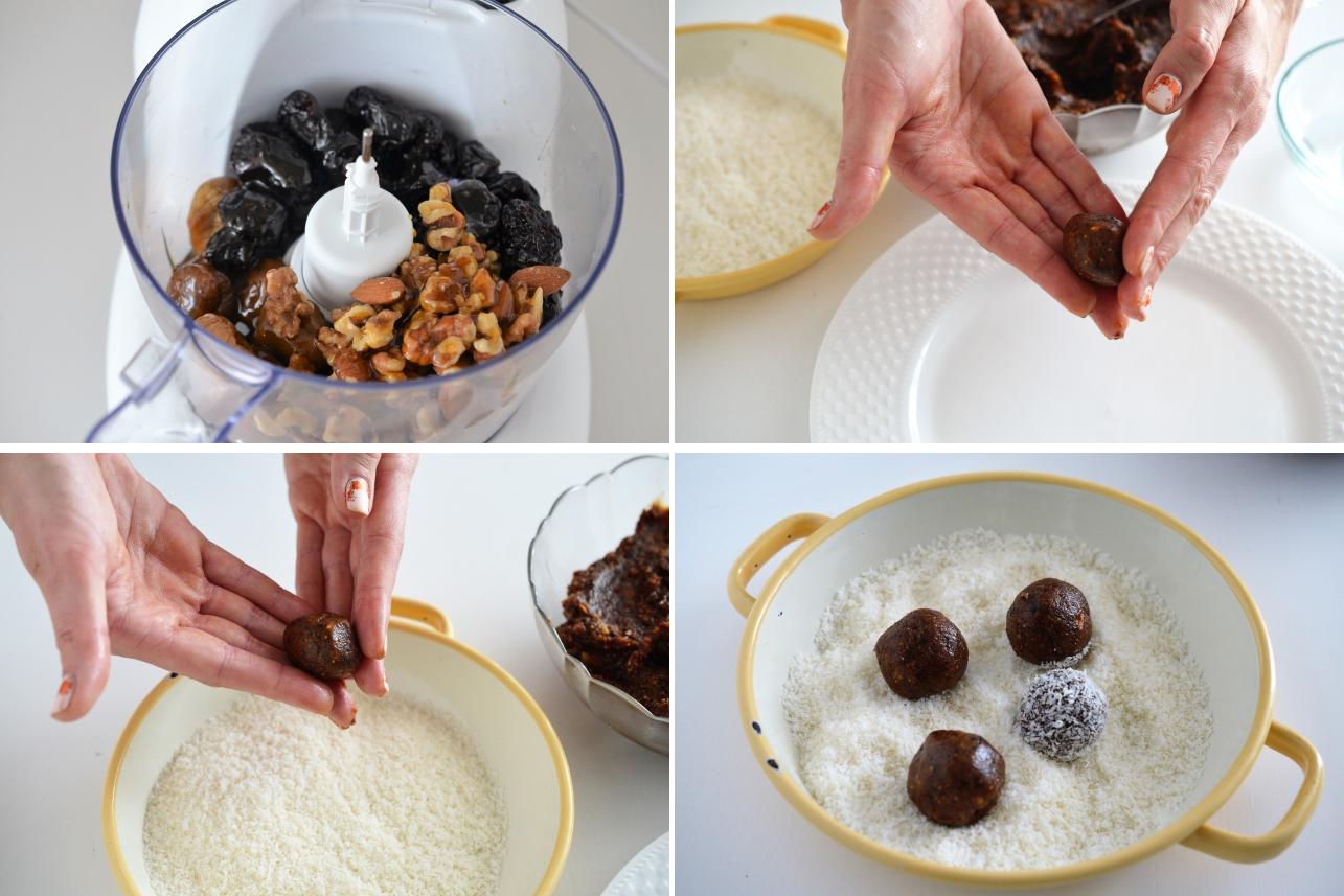 Preparare Trufe din fructe uscate
