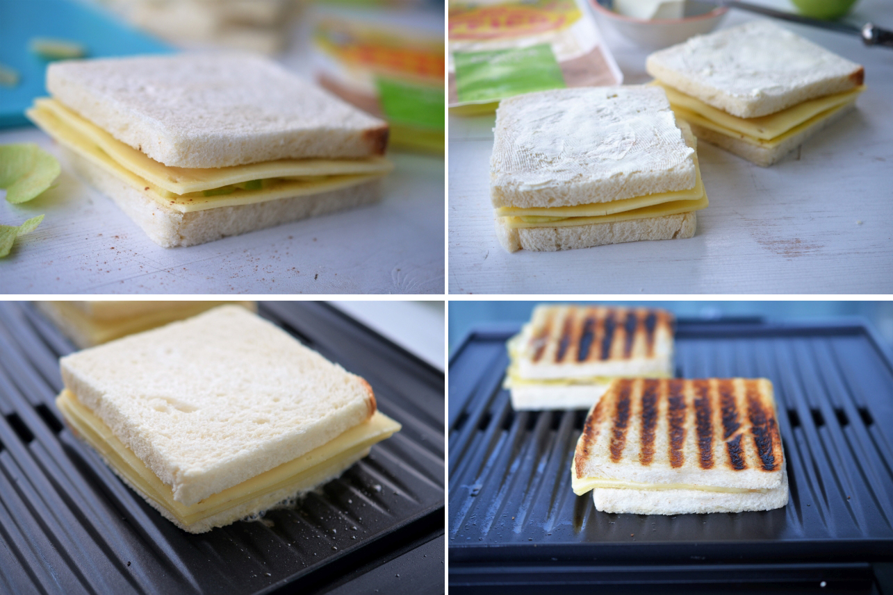 sandwich cald cu gouda si mere