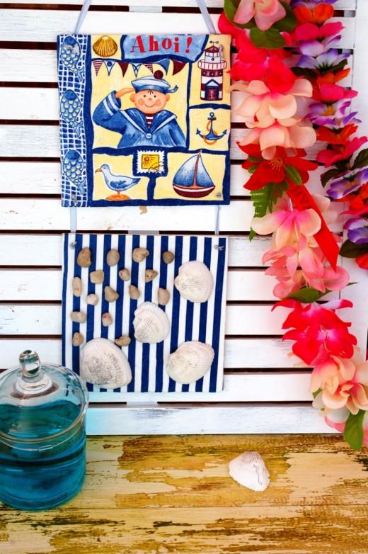 tutorial decoupage decoratiuni teme marine