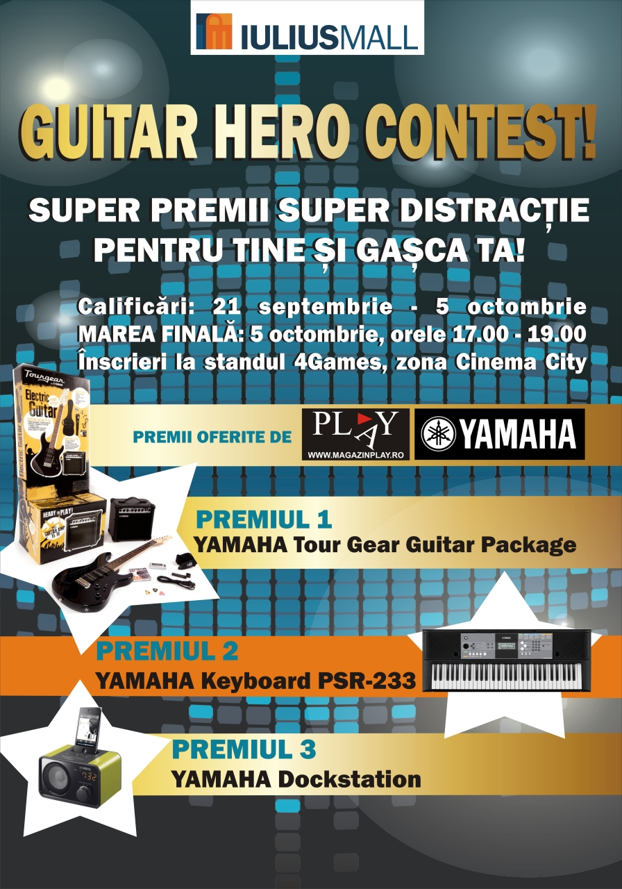 Concurs Guitar Hero Iulius Mall