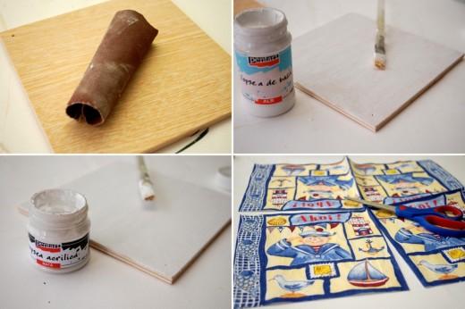 tutorial decoupage decoratiuni cu teme marine