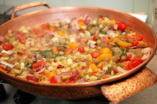 Preparare legume cu ton
