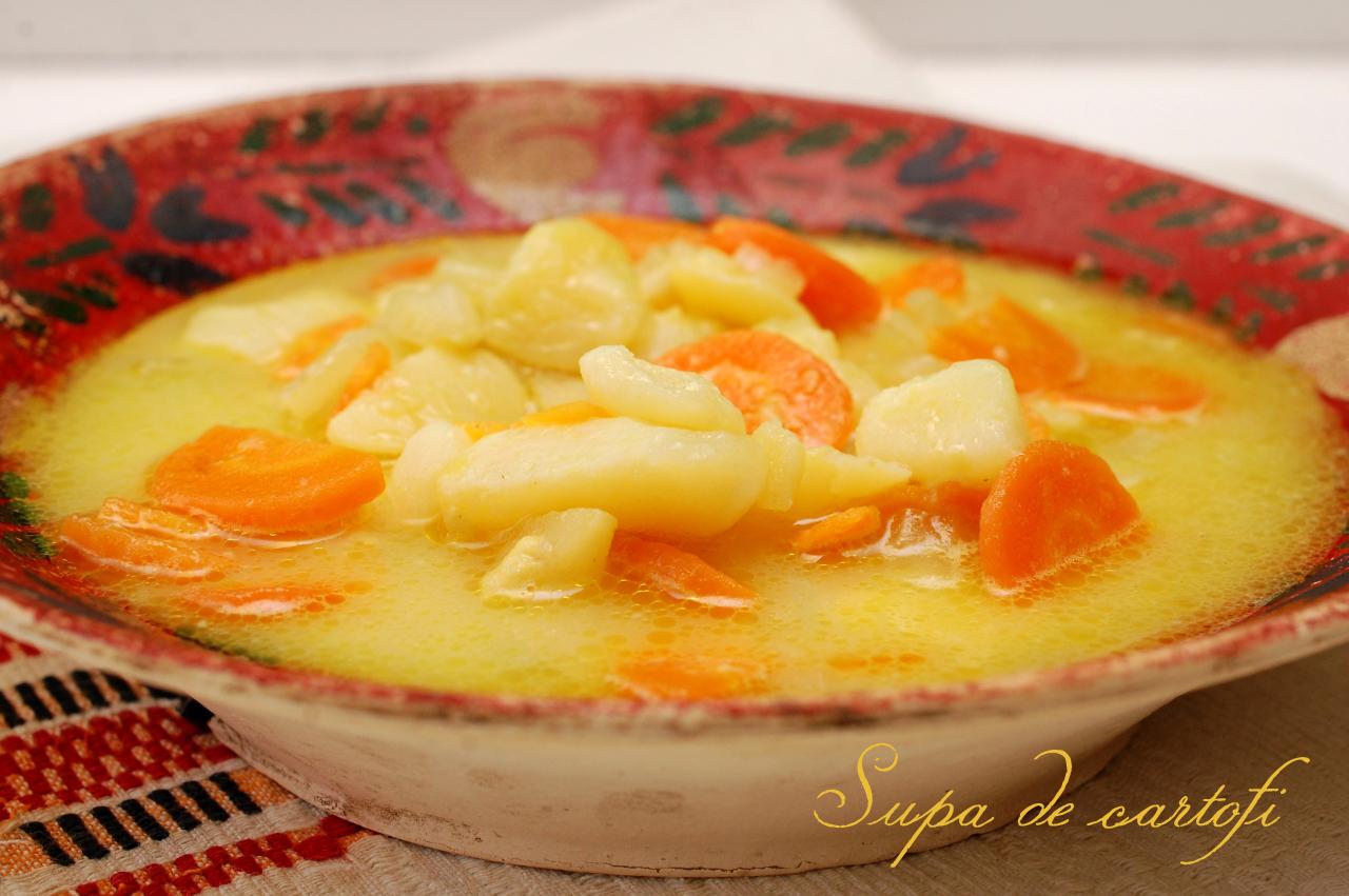 Supa ce cartofi cu lapte si cascaval