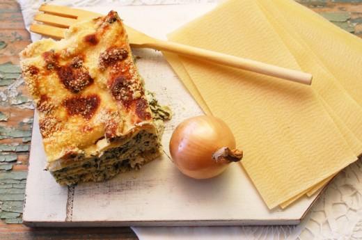 Lasagna cu midii si spanac