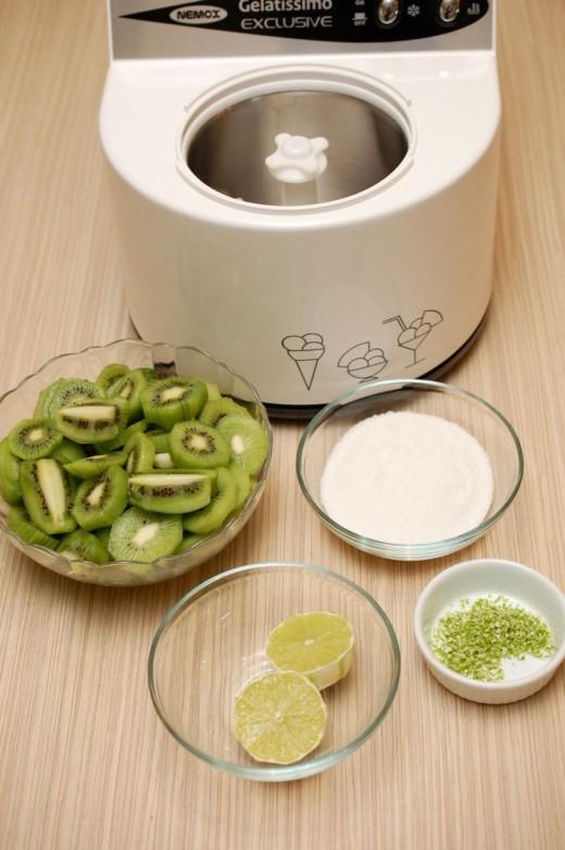 Ingrediente inghetata de kiwi cu lime