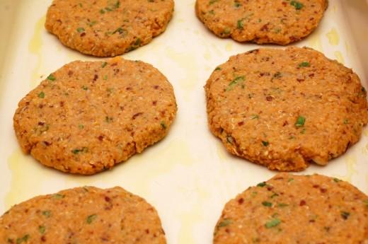 Burger cu cartofi dulci si quinoa