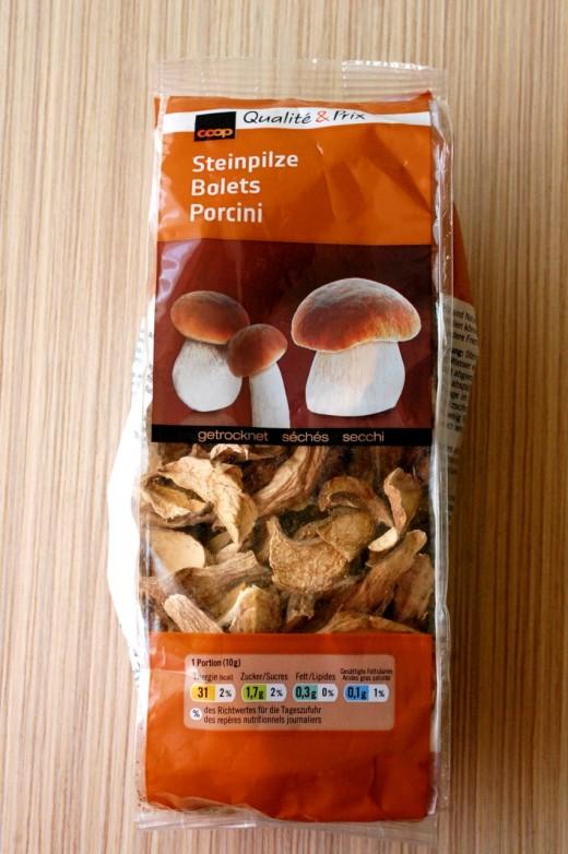 paste gratinate cu ciuperci porcinii