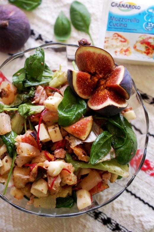 salata de pui cu mozzarella si fructe