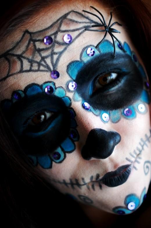 tutorial machiaj de halloween sugar skull makeup