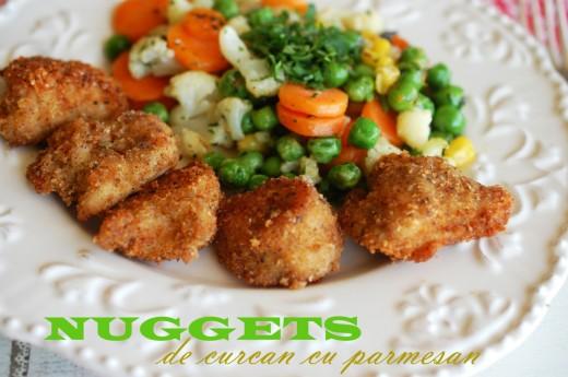 nuggets de curcan cu parmesan