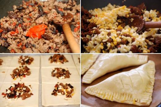 Preparare trigon cu carne de vita