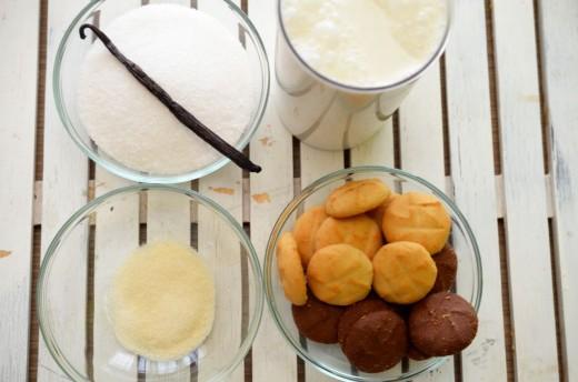 Ingrediente pentru Panna cotta cu biscuiti si jeleu de visine
