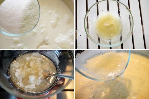 Preparare Panna cotta cu biscuiti si jeleu de visine