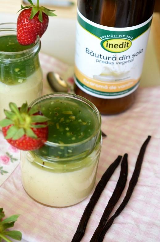 Budinca de vanilie cu lapte de soia