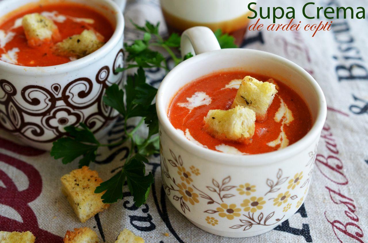 Supa crema de ardei copti