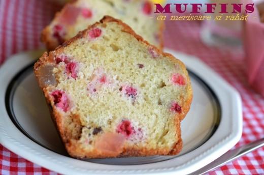 Muffins cu merisoare si rahat
