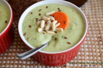 Supa crema de zucchini cu lapte de soia