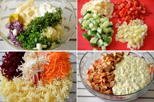 Preparare salata rece