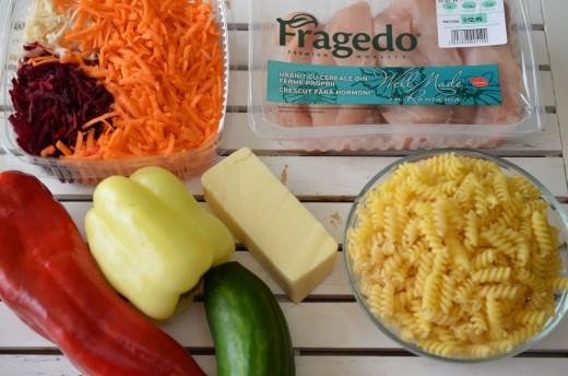 Ingrediente pentru salata rece