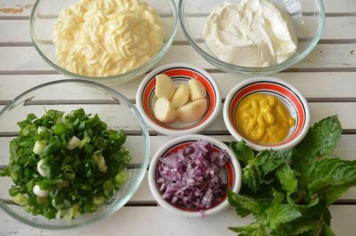Ingrediente pentru sos ranch