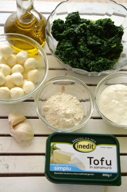 Ingrediente spanac la cuptor