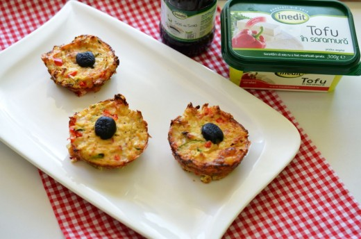 Mini muffins cu tofu si legume
