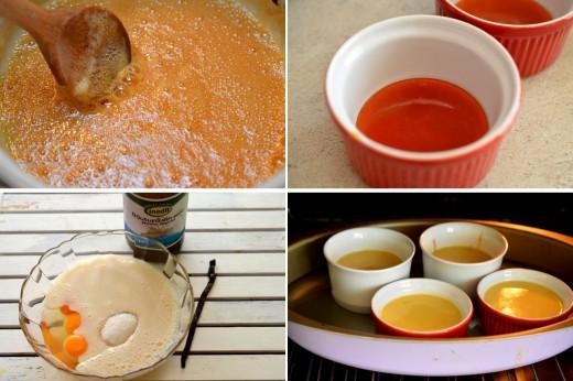 Preparare creme caramel