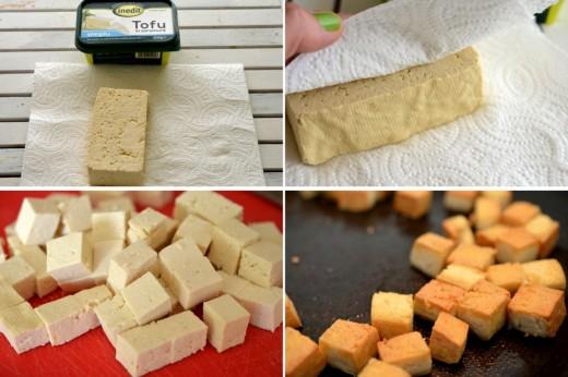 Preparare tofu prajit