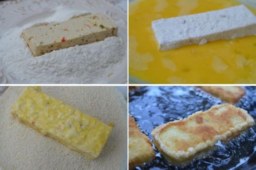 Preparare tofu pane