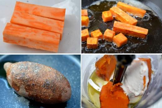 piure cartof dulce