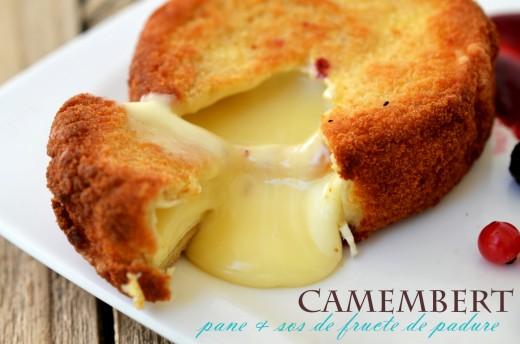 camembert pane cu sos de fructe de padure
