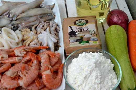 fritto misto cu fructe de mare