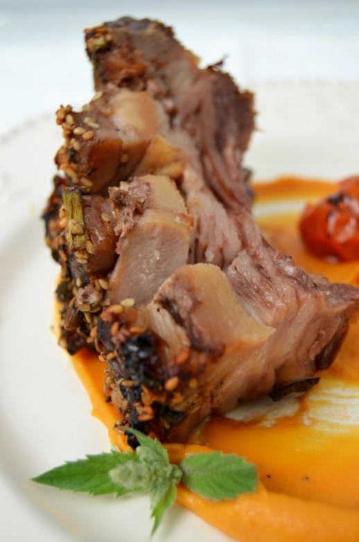piept de porc marinat