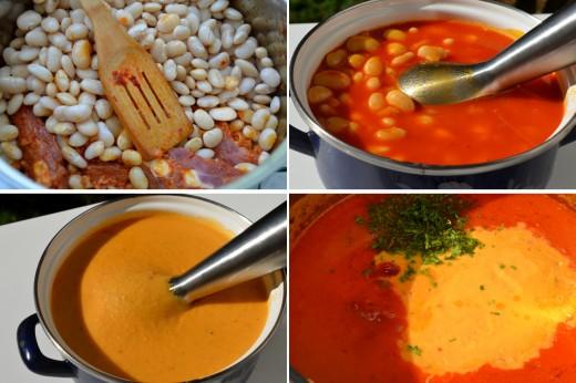 supa cremoasa de fasole boabe