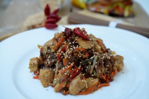 pui cu legume chinezesti