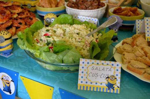 idei meniu petrecere copii