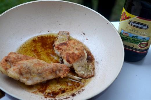friptura de iepure cu piure de mazare cu miere