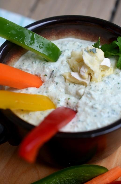 dip cu branza pentru legume