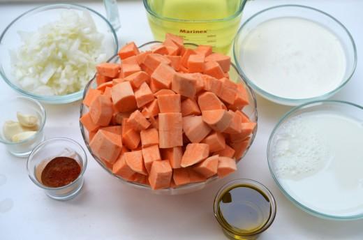 crema de cartofi dulci cu scortisoara