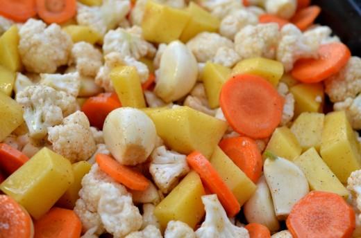 piure de legume coapte