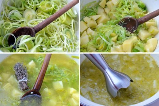 supa crema de praz si cartofi