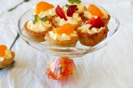 mini tarte cu fructe