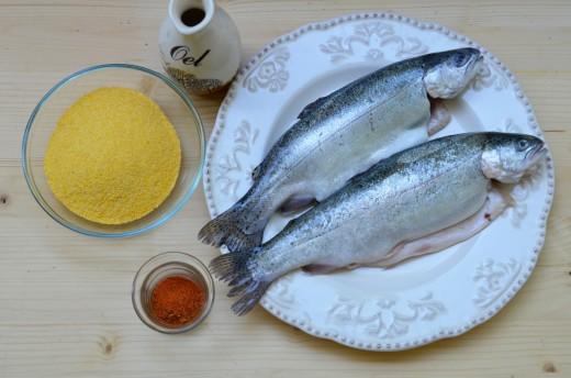 pastrav in crusta de malai